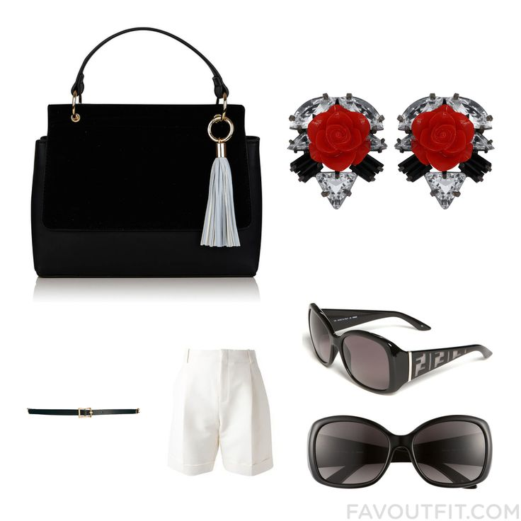Style Guide With Topshop Tote Bag Rose Stud Earrings Fendi Sunglasses And Slimming Belt From April 2016 #outfit #look