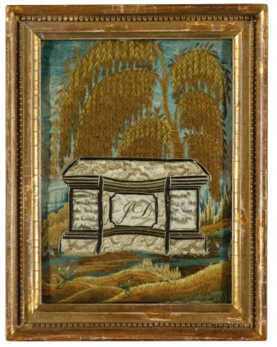 Mourning Picture: In memory of James Dimon Anonymous, Mary Balch's School, Providence, Rhode Island, circa 1810