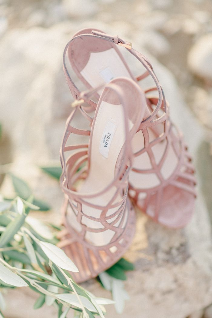 #Hochzeitsschuhe in Pastell-Rosa von #Prada (Best Blush High End)