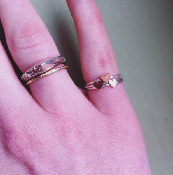 The sweetest little heart rings from Sarah Sears Jewellery