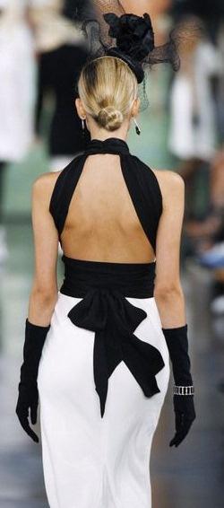 White & Black wedding dress ideas