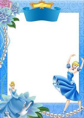 02 molduras com Princesas Disney (PNG) | Amanhã é outro dia: molduras calendários poesias