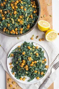 Vegan Kale Caesar Salad Recipe- use avocado instead of tofu www.VeganFoodDaily.com