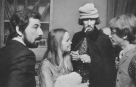 Lou Adler with John and Michelle Phillips