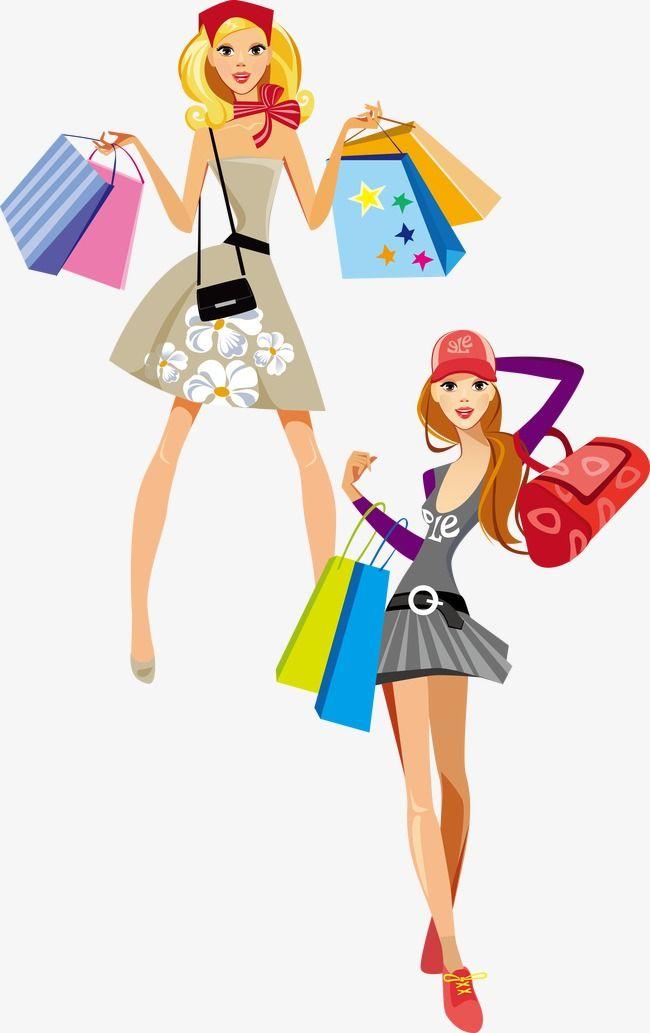 Compras De Belleza Logotipo De Ropa Chica Del Arte Pop Ilustracion De Arte Pop