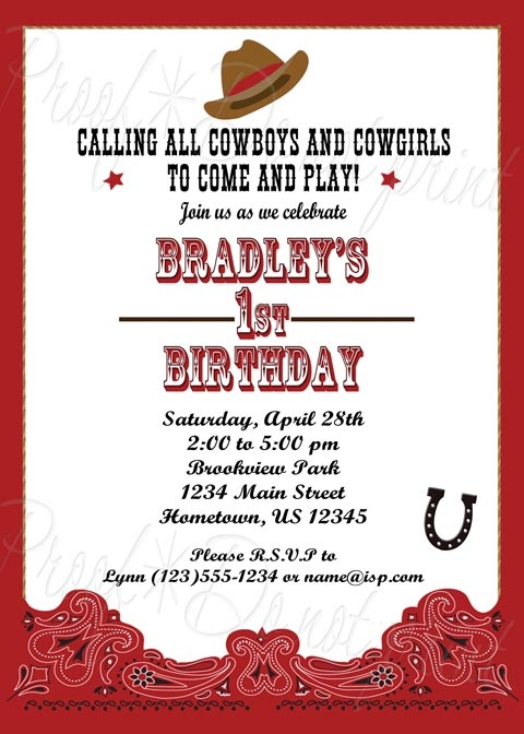 14 best images about Western Themed Party – Cowboy Party Invitation