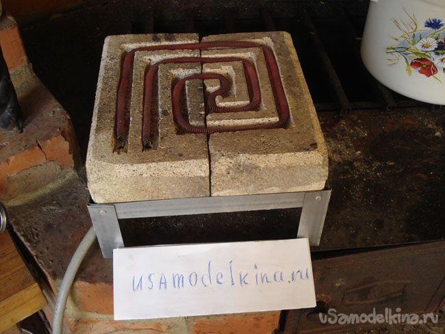 Самодельная ретро электрическая плита
