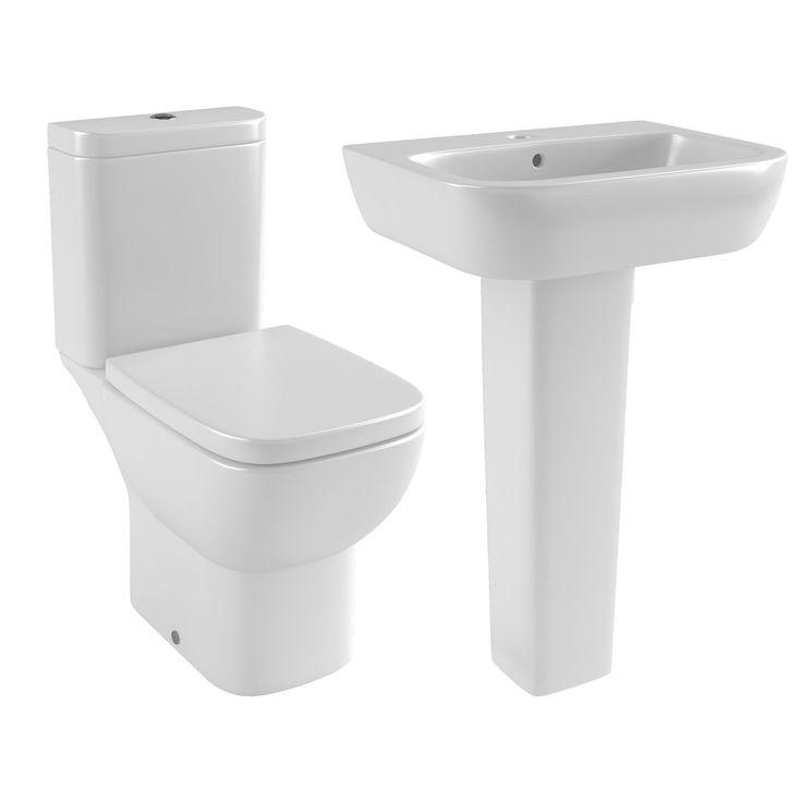Cooke & Lewis Santoro Full Pedestal Basin & Toilet | Rooms | DIY at B&Q