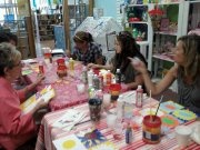 Andy Warhol themed art class...Our adult art classes are fun too!