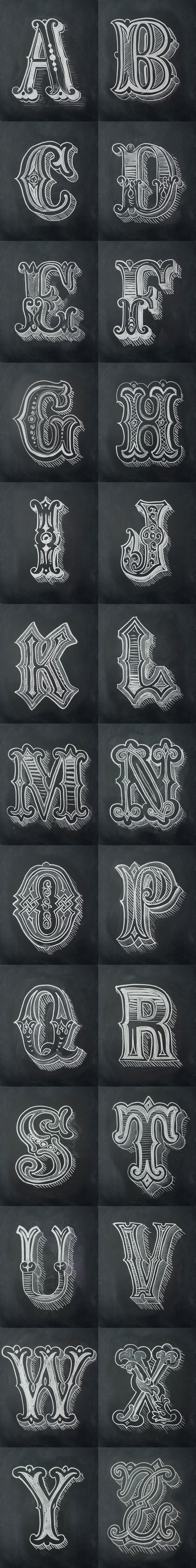 Chalk Alphabet by Antonio Rodrigues Jr