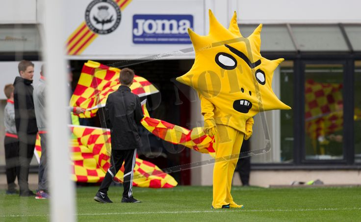 Partick Thistle mascot Kingsley before the Betfred Cup game between Partick Thistle and Queen's Park.