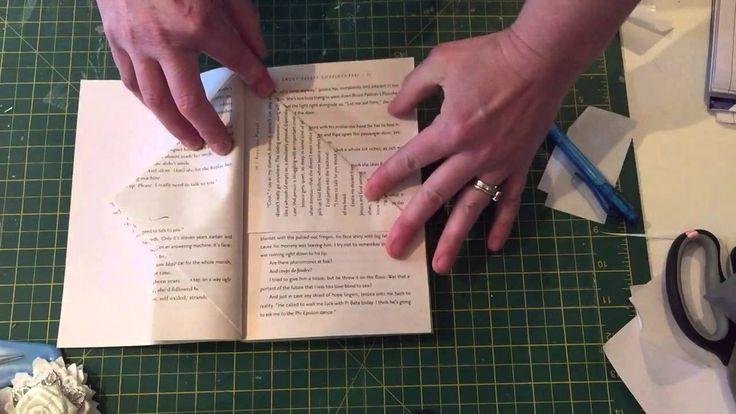 Book folding fairy house pattern tutorial