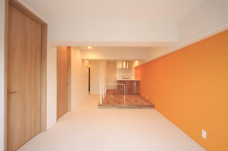 Japanese interior accent wall painted in Sydney Harbour Mango