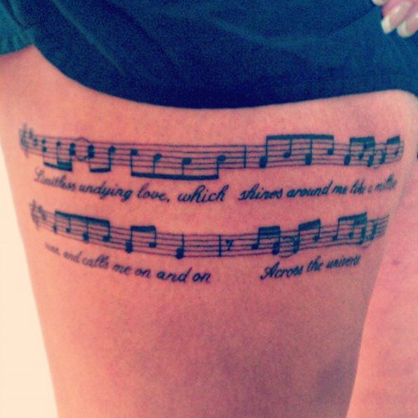 Tattoo Quotes About The Universe: 34 Best Music Tats Images On Pinterest