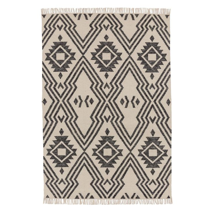 Ethically hand-woven in India with new wool and cotton, the reversible Seoni Rug displays a simple geometric design that is reminiscent of traditional Aztec patterning. The Seoni makes a bold statement underfoot, yet in classic monochrome, it will complement most interiors beautifully without overwhelming the space.   Team with our rug underlay to ensure your rug stands the test of time and keeps your flooring in good condition.