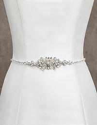 Pronovias > Ceinture de mariée en strass et argent
