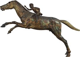 Bronze statue of a horse and a young jockey, found in the sea off Cape Artemision, north Euboea  ca. 140 BC.