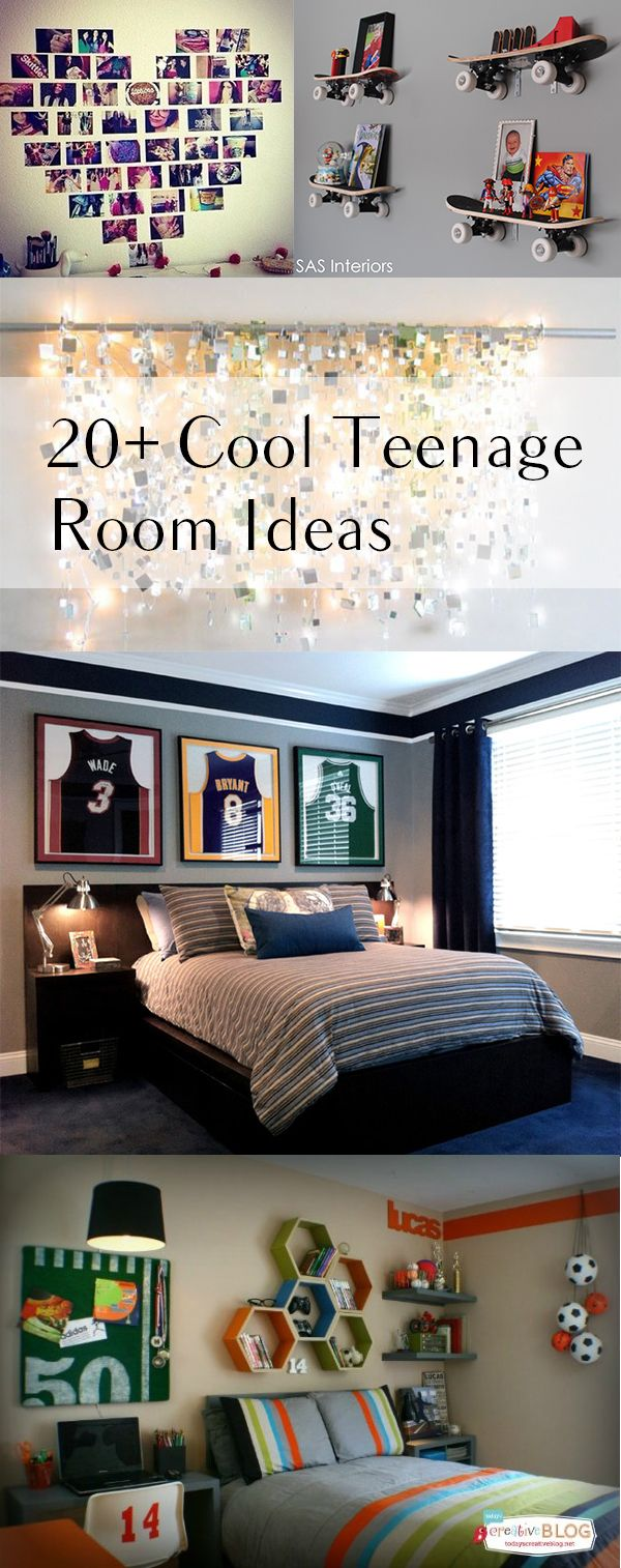 20+ Cool room ideas - they have skateboards at dollar tree that I think would work for the shelf idea