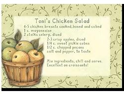 Susan Winget | Toni's Chicken Salad recipe/graphic