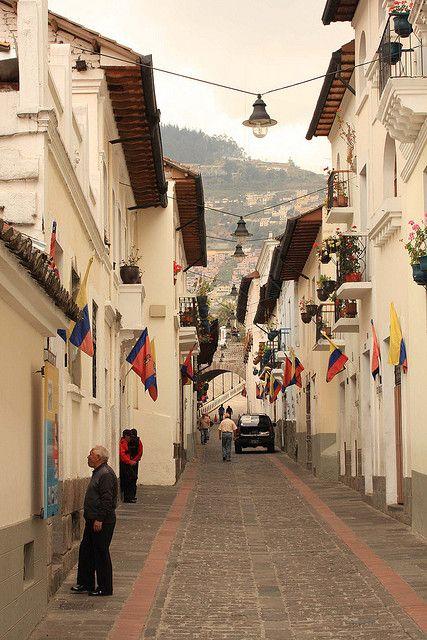 ღღ Wow... It looks like a Bavarian  or Austrian little town  ~~~Calle La Ronda in Quito, Ecuador (by Old Chippy).