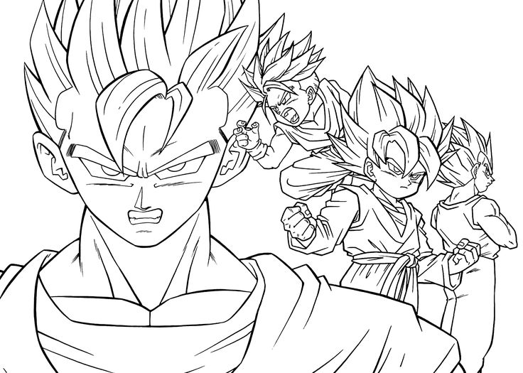 goten dragon ball z anime coloring pages for kids printable free - Coloring Pages Teenagers Boys