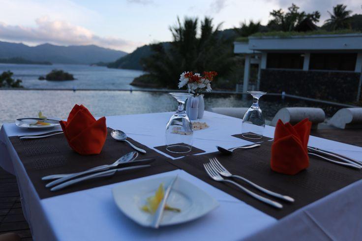 Lavish outdoor dinner @Dabirahe by the pool     #dabirahe #lembehhills #romance #dive #spa #holiday #travel #resort