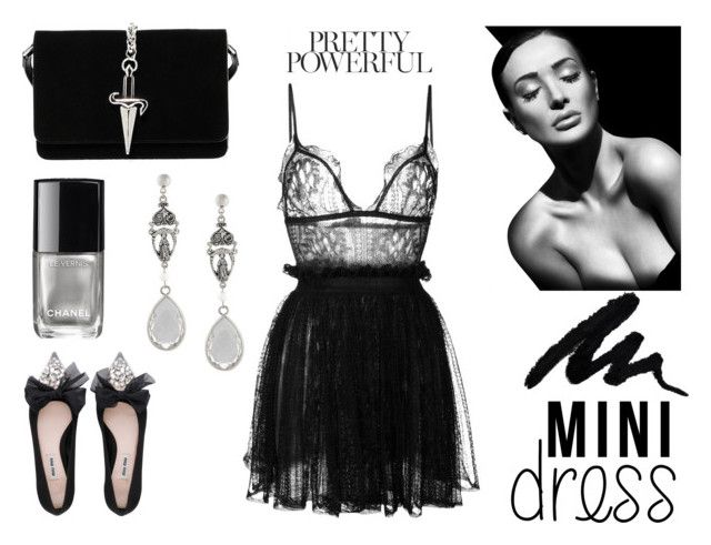 """""""Mini Dress"""" by elena-anders on Polyvore featuring Alexander McQueen, Givenchy, Miu Miu, Cesare Paciotti and Chanel"""
