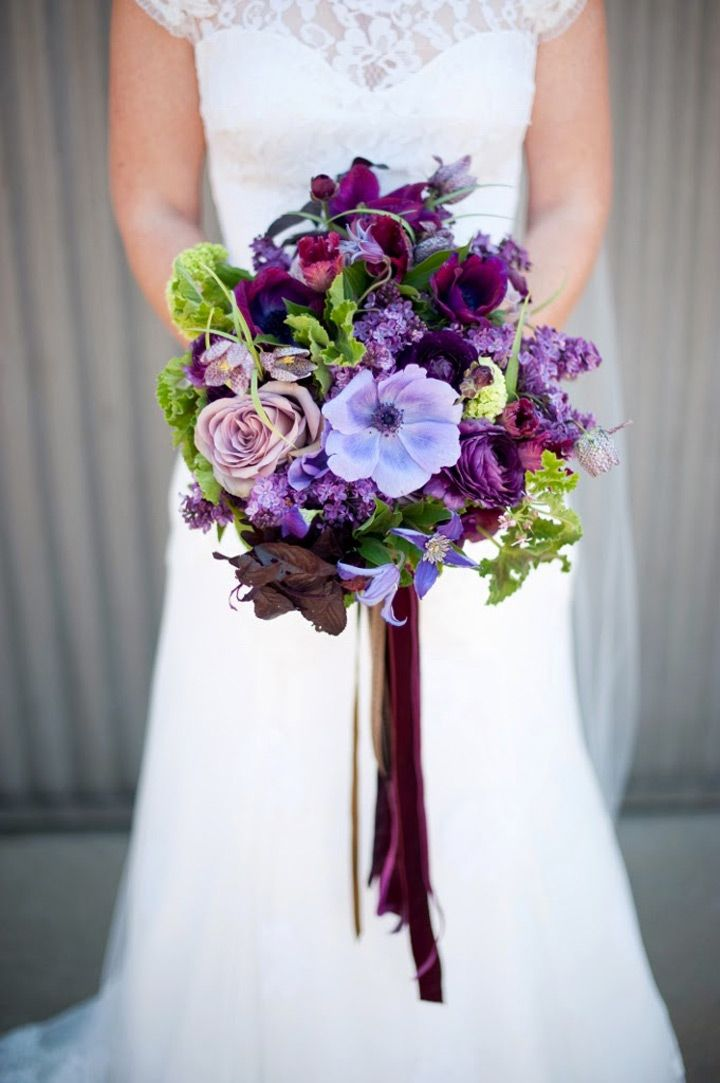 Perfect Purple Wedding Flowers To Die For ~  we ❤ this! moncheribridals.com