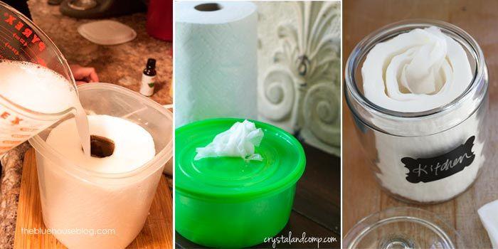 Cómo hacer toallitas desinfectantes caseras - Flota