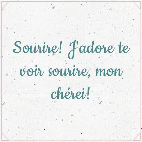 Sourire! J'adore te voir sourire, mon chère!... '¡Sonríe! Adoro verte sonreír, cariño!' #JeParleFrançais