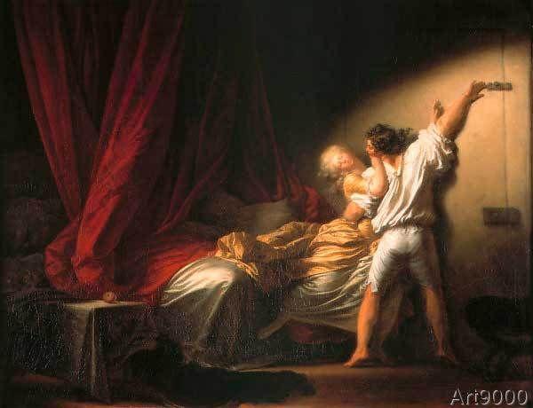 Jean-Honore Fragonard - Le verrou