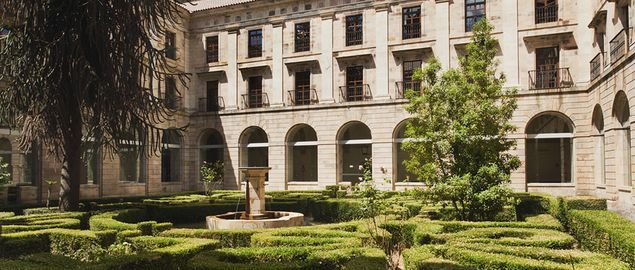 The cloisters at Parador Corias. | #Spain #Travel