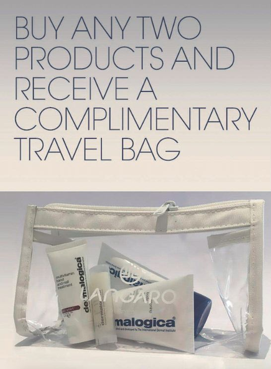 ‪#‎HolidaySpecial‬ Buy any two retail products and receive a complimentary Travel Bag. Limited Stock available. T&C's Apply. OR Purchase Travel Bag With Products - Festive Special R500 (value