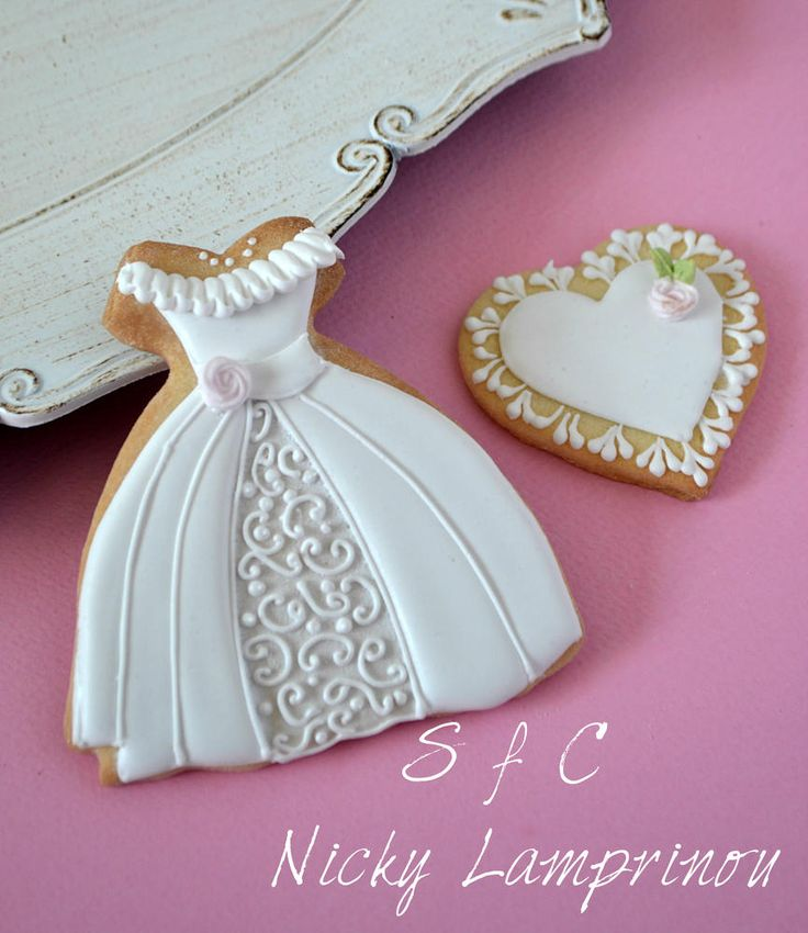 wedding dress cookie | Cookie Connection
