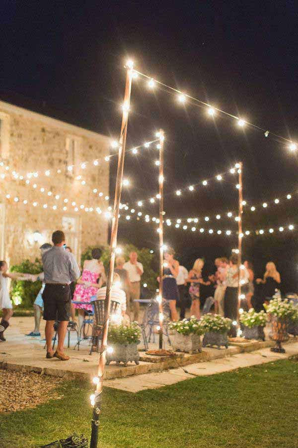 Outside Lighting Ideas For Parties Best 25 Backyard String Lights Ideas On Pinterest Patio Lighting And Deck Outside For Parties
