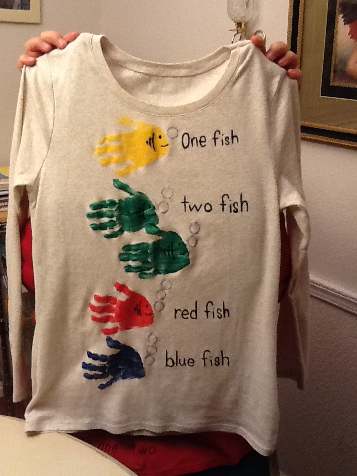 One fish, two fish, red fish, blue fish, Dr Seuss shirt!!!!!!