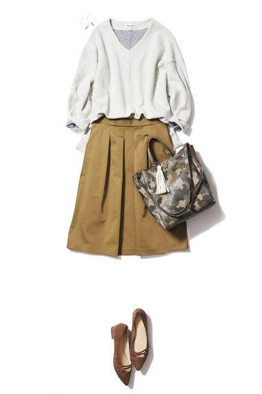 人気のカモフラージュ柄スカートで一足先に秋の装い ― B-ファッションコーディネート通販|ビストロ フラワーズ トウキョウ