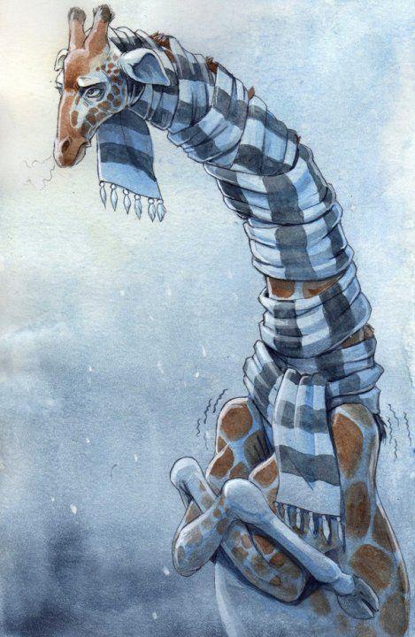 O Lobo Leitor: Poema para uma girafa com frio