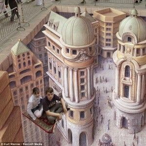 Keep Flying and Don't fall in!  – 3D Street Art