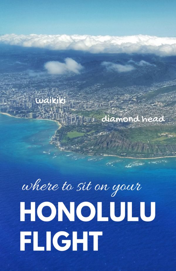 With your Hawaii packing checklist, make air travel seating part of essentials of things to do for vacation planning! After long flights from flying to Hawaii, views from planes near Honolulu International Airport of Oahu can't be beat! Even with cheap flights to Hawaii, it's not so budget-friendly. Get the most of the flight to Hawaii from USA with the best airplane seats! See best beaches, hiking, and snorkeling destinations from above like Waikiki, Honolulu, Diamond Head, Hanauma Bay.