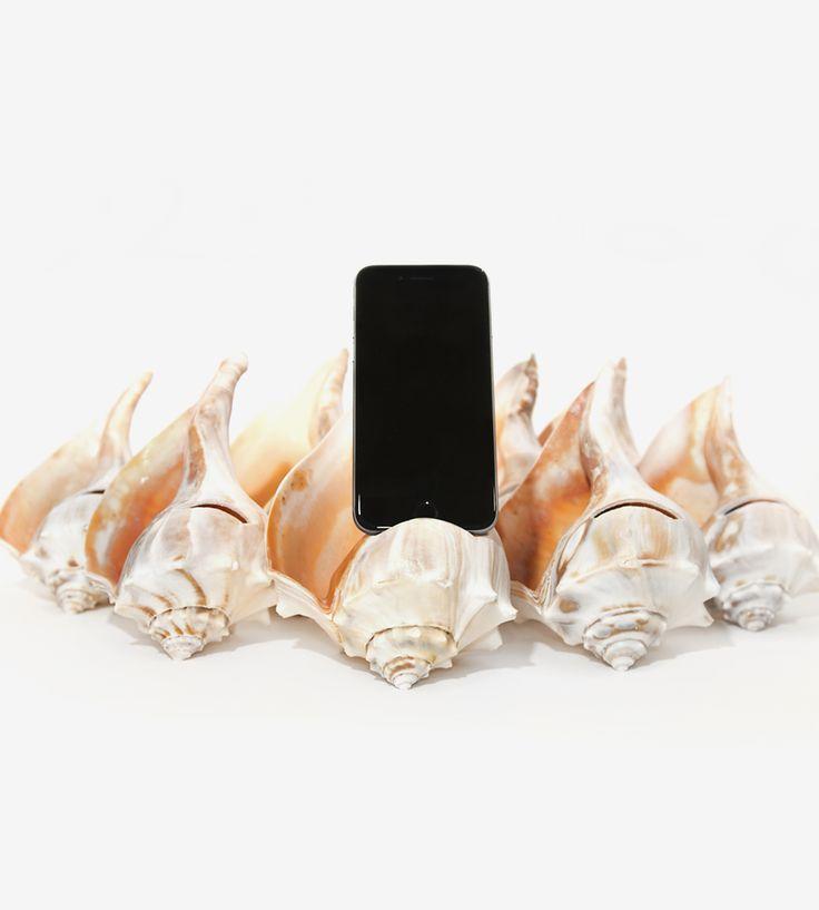 Seashell iPhone Speaker by WAAM Industries  on Scoutmob