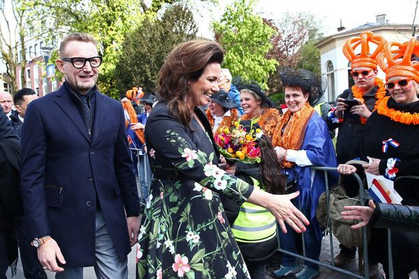 Prince Bernhard of The Netherlands and Princess Annette of The Netherlands greet spectators during King's Day (Koningsdag), the celebration of the birthday of the Dutch King, on April 27, 2016 in Zwolle, Netherlands. Parties and concerts are held across the Netherlands as members of the Dutch royal family oversee festivities.