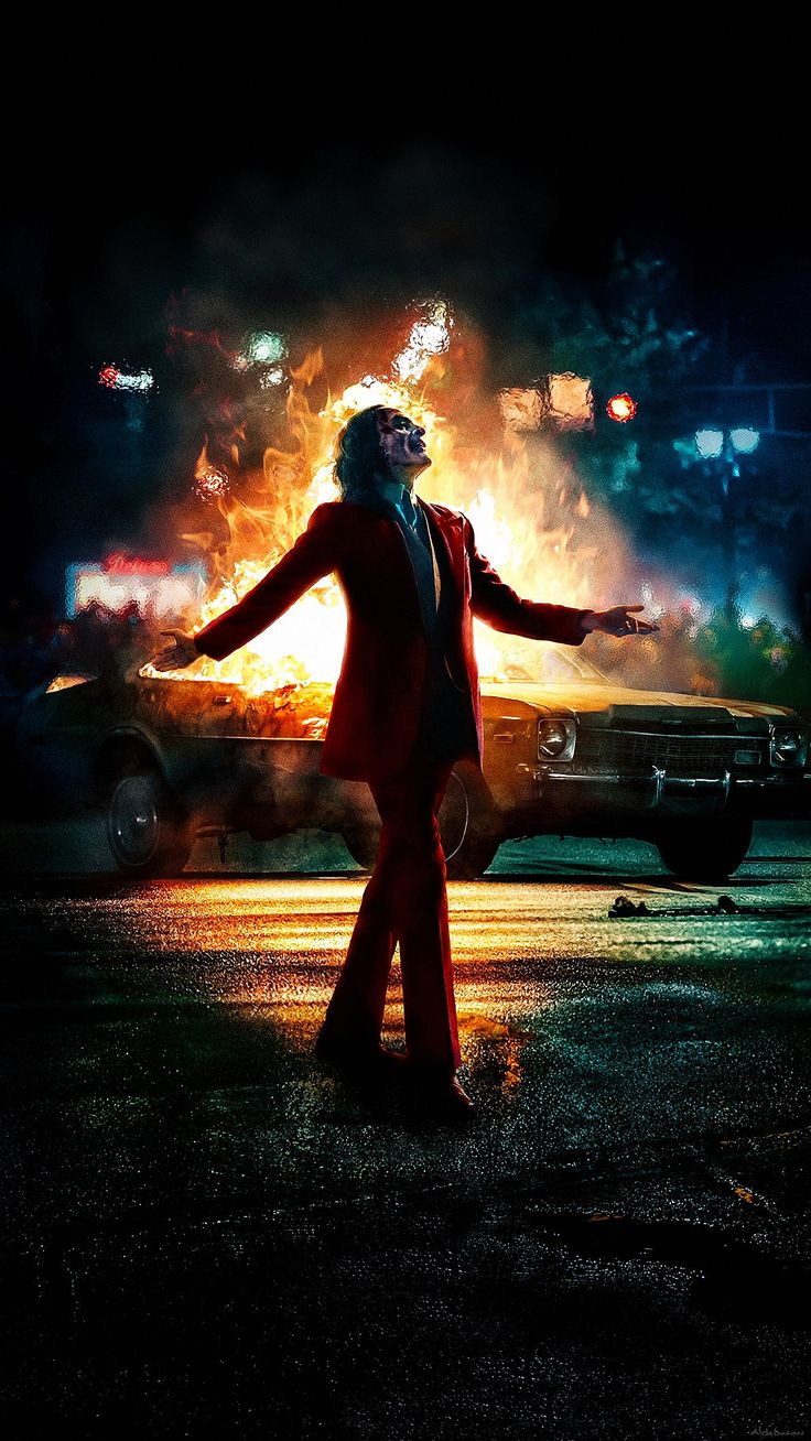 [Film/TV] Joker Movie poster IMAX clean version full image