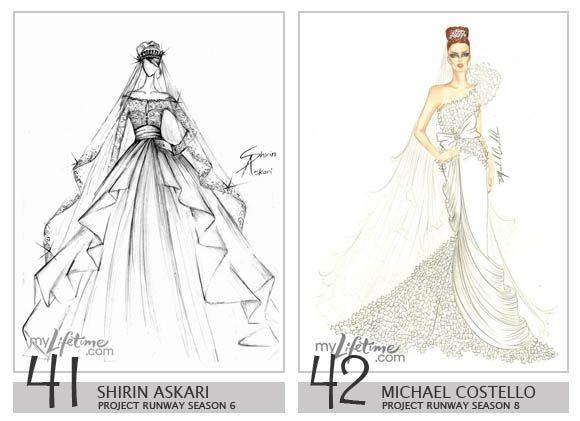 Royalty Wedding Dress Design Sketches   Shirin Askari U0026 Michael Costello