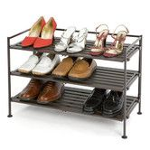 Found it at Wayfair - Resin-Wood Composite 3 Tier Utility Shoe Rack