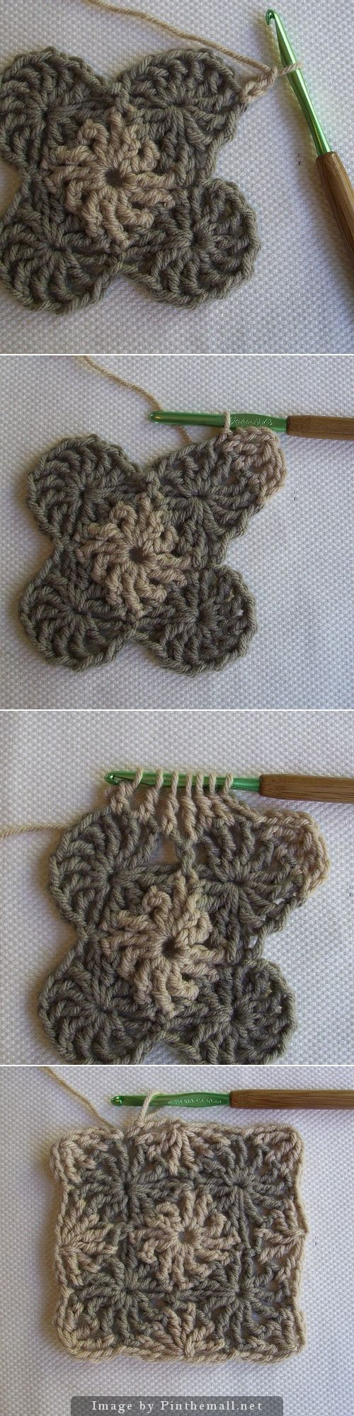crochet - cool wheels granny square from crochet dad ~☆~ Teresa Restegui http://www.pinterest.com/teretegui/   ~☆~