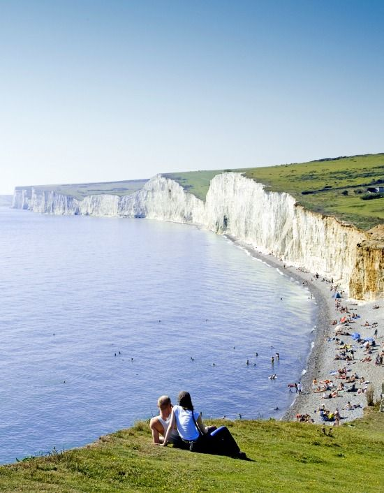 Seven Sisters Beach in Sussex England: http://beachblissliving.com/best-beaches-in-england-for-british-charm-and-natural-beauty/
