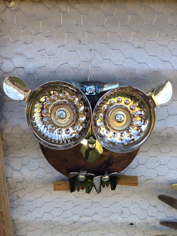 173 best garden kitchen owls images on pinterest decks for Anything made by waste material