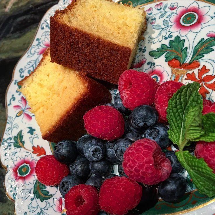 Honey orange blossom #Castella #cake with berries #Dessert #cookingwithzac #homemade