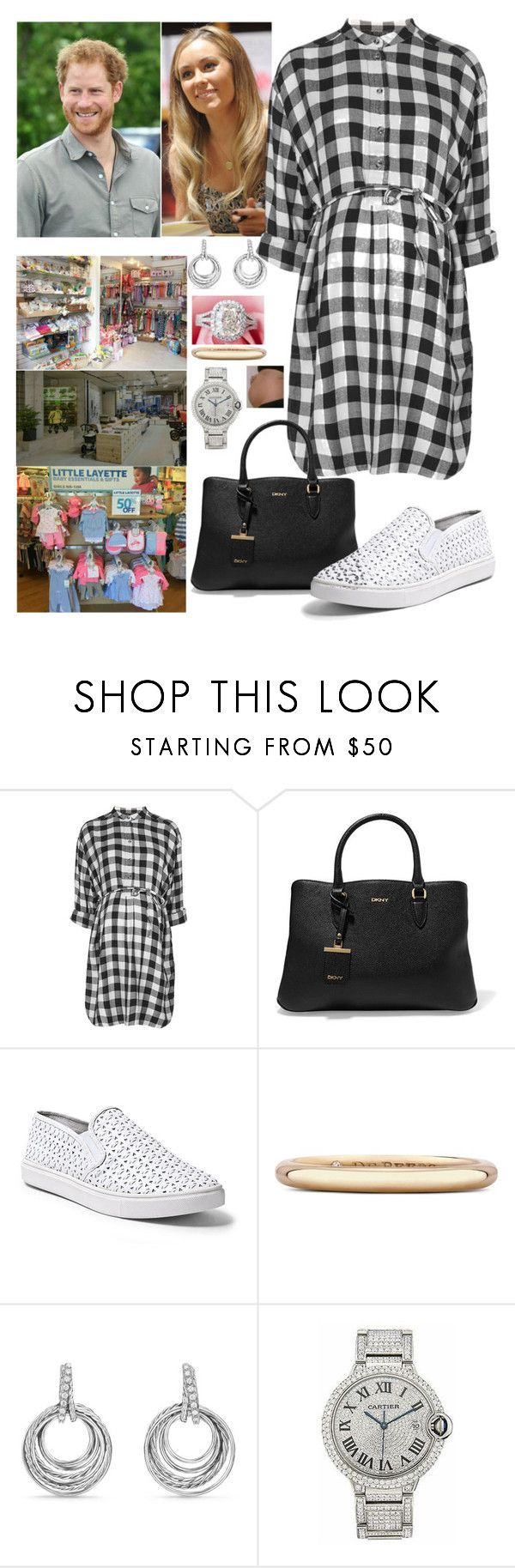 """""""Lauren and Harry going shopping layette for their baby"""" by royal-431 ❤ liked on Polyvore featuring Lauren Conrad, Topshop, DKNY, Steve Madden, De Beers, David Yurman and Cartier"""